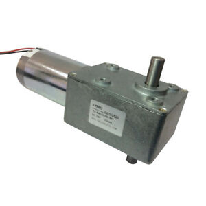 Details about High Torque 24V Reversible 20 RPM DC Right Angle Gear Motor  With Double Shaft