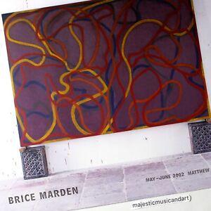 BRICE MARDEN 2002 EXHIBITION POSTER