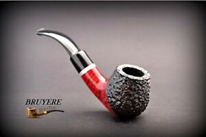 HAND-MADE-WOODEN-TOBACCO-SMOKING-PIPE-BRUYERE-no-74-Rustic-Briar-BOX
