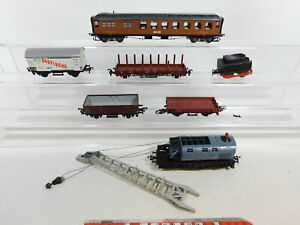 BI302-1-Konvolut-Fleischmann-H0-DC-Waggons-Kranwagen-Tender-Bastler-gut