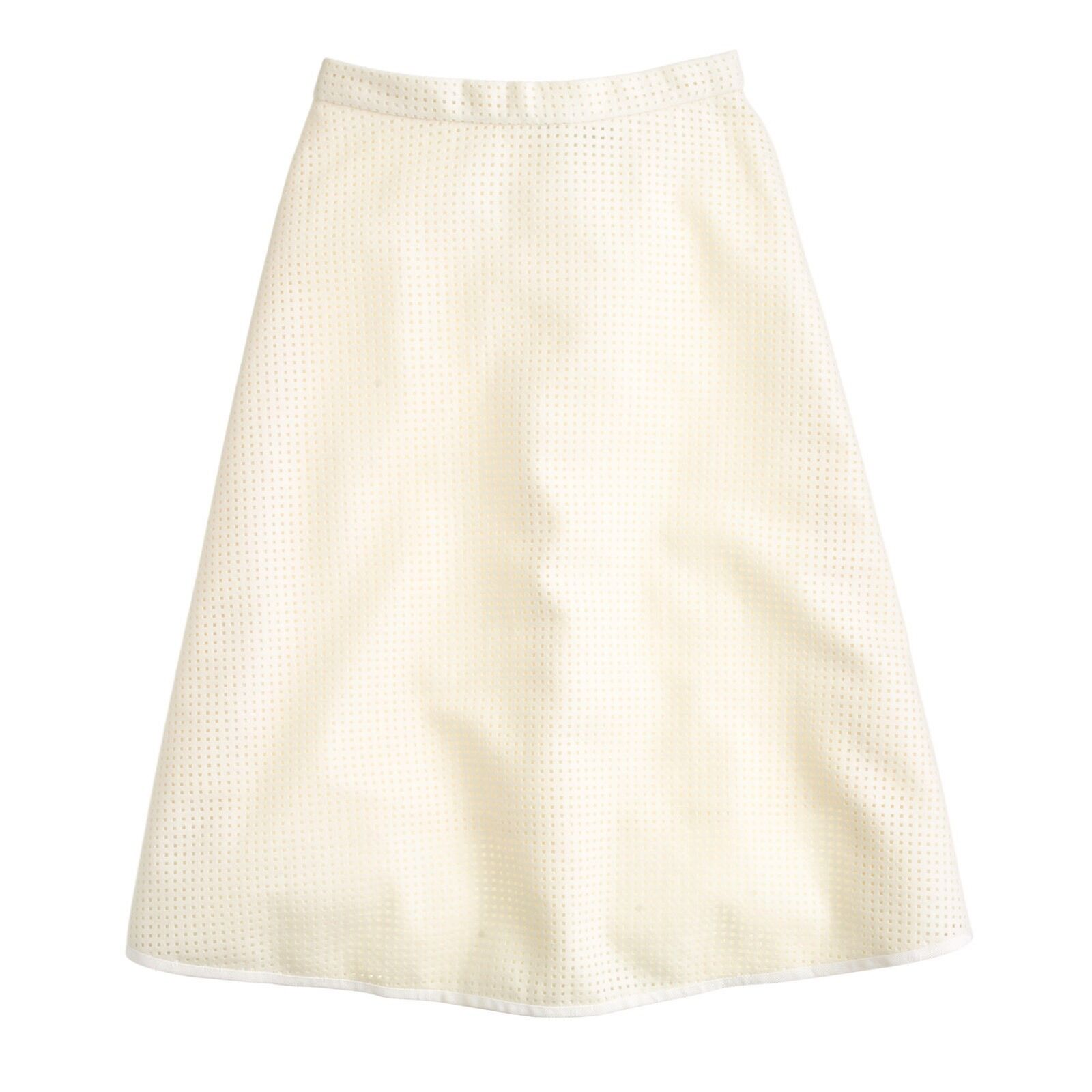 JCrew Collection perforated wool skirt size 2 B4457  325