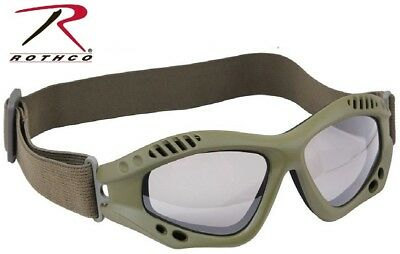 OD Green Tactical Goggles Military Goggles Vented Anti-Fog Enhanced 11378 Rothco