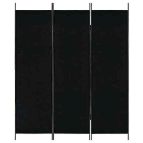 Schwarz Paravent Trennwand Sichtschutz Spanische Wand vidaXL Raumteiler 3-tlg