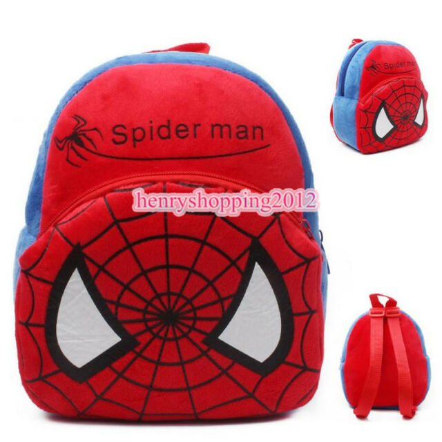 eaf61def0c6 Boys Girls Kid Nursery Toddler Super hero Spiderman Backpacks Schoolbag  Mini Bag