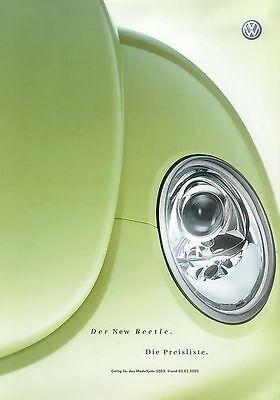 EntrüCkung Vw New Beetle Preisliste 2002 2.1.02 Price List Prijslijst Prisliste Cennik Auto