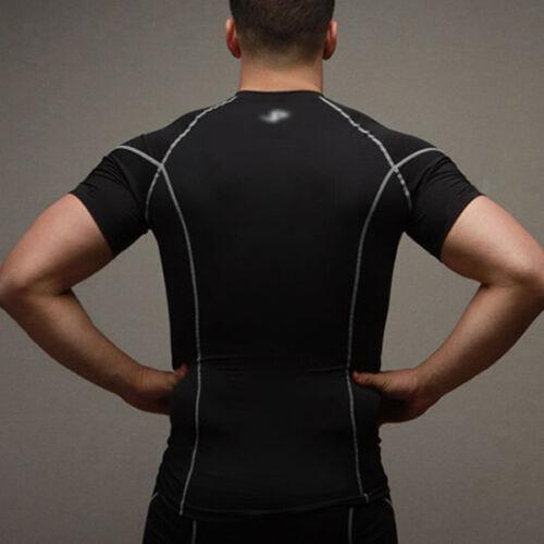 UK Men Gym Sports Tight Compression Base Layer Tops T Shirt Shorts Pants Workout