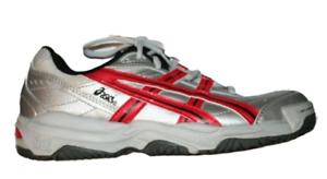 Asics Gel Sensation - Kinder Tennisschuhe - Größe 37 - white-silver-red - CL606