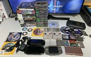 Lot-Of-52-Video-Games-amp-7-Handheld-Consoles-PS1-PS2-Xbox-360-SNES-PSP-Gameboy