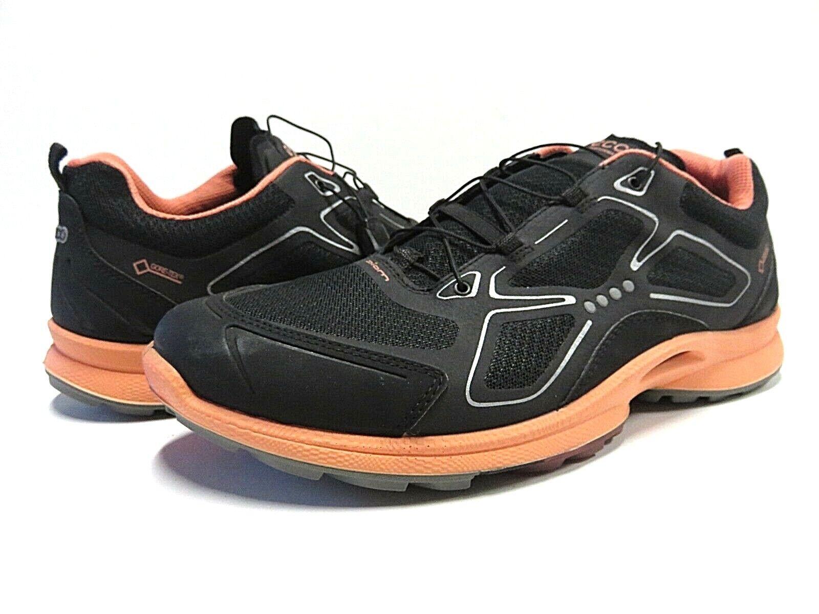 NEW ECCO Performance Biom Black & orange Athletic Athletic Athletic Running shoes Women's Size 10 7abb83