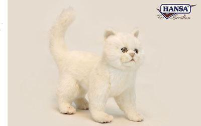 Hansa Toys Creme Kitten Cat 6434 Plush Stuffed Animal Toy Gift Decor Prop New