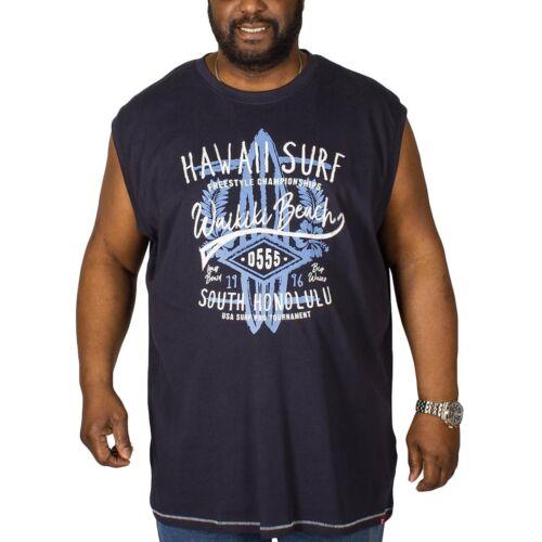 Duke D555 Hommes Aloha Big Tall King Size Casual coton sans manches débardeur 2XL