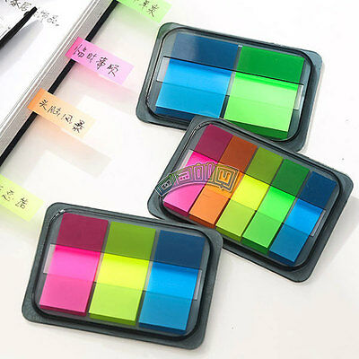 Sticky Notes Paper Bookmark Stationery Writing Memo Pad Desk Office School Gifts