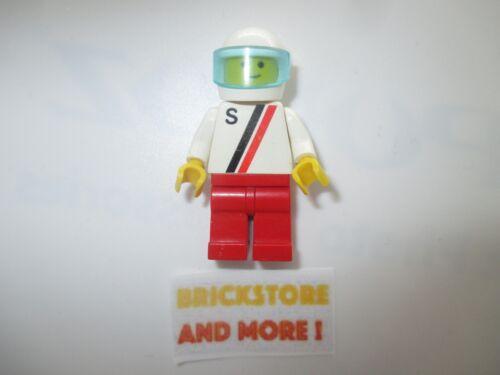 /'S/' White Helmet s001 Lego Racers Minifigures