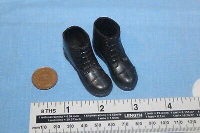 Original Vintage Action Man Black soldat Bottes CB33657