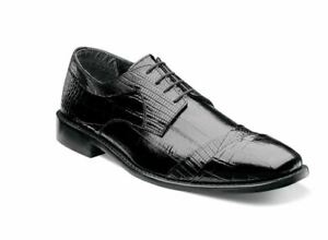 Stacy-Adams-GARIBALDI-Mens-Black-24985-001-Leather-Lace-Up-Dress-Oxford-Shoes