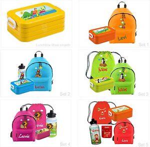 SET Rucksack Junior mit Namen und Wunschmotiv Schule Schultasche kinderrucksack