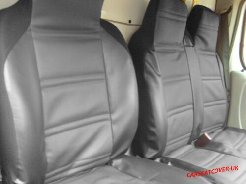 PEUGEOT BOXER Van Seat Covers LUXURY PADDED LEATHER LOOK Single /& Double