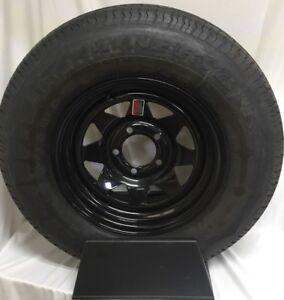 Radial Trailer Tire On Rim ST205//75R14 205//75-14 5 Lug Wheel Galvanized Spoke