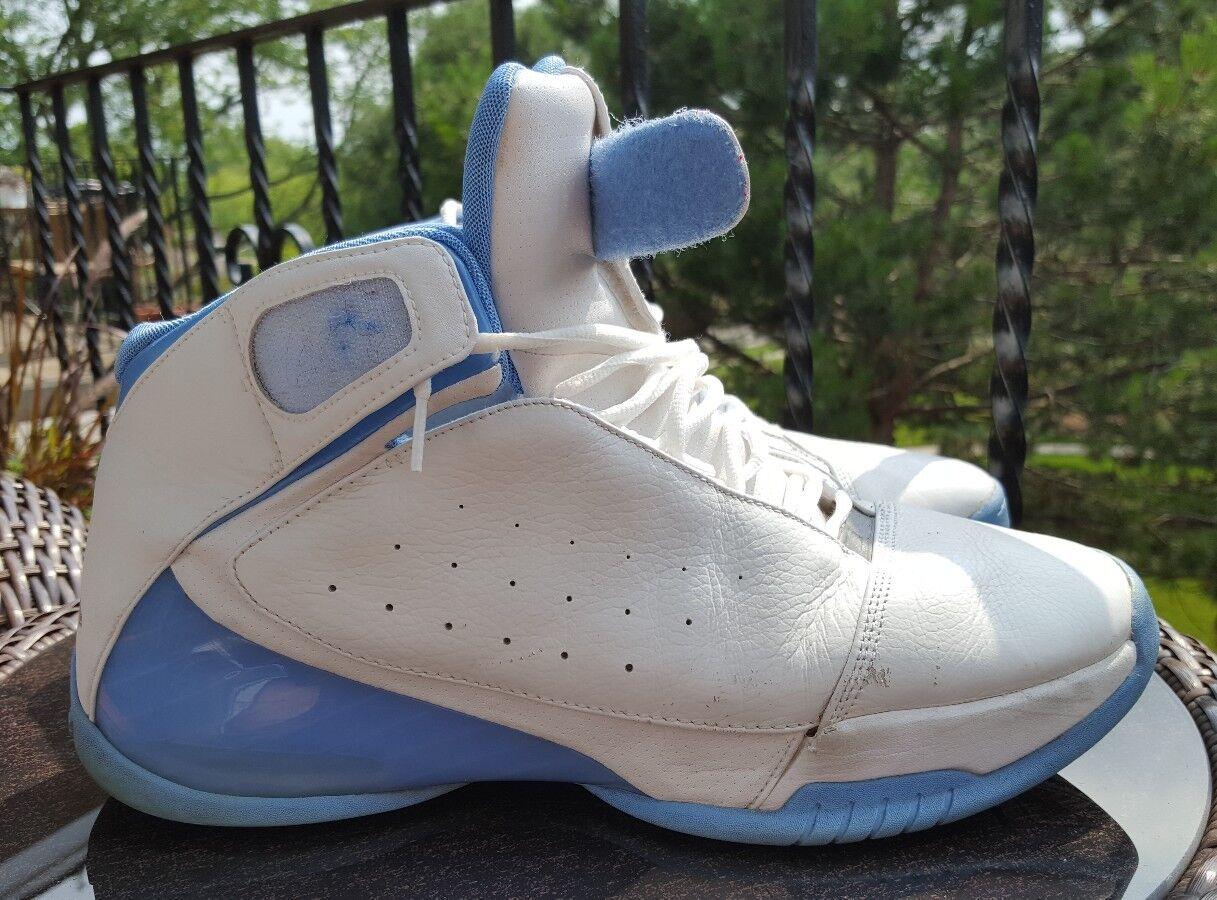 Nike Jordan Team Strong, 311868-104, Hommes Basketball Chaussures , blanc , Bleu,