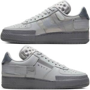 Nike-Air-Force-1-TYPE-2-Sneaker-Uomo-Taglia-7-9-UK-GRIGIO-NEBBIA-Cool-Grigio-CT2584-001