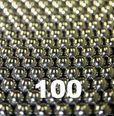 """Precision Balls 3//16/"""" Solid Chrome Steel G10 for Bearing Keychain Wheel 100pcs"""