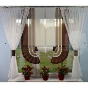 Moderne Gardinen Wohnzimmer Fensterdekoration Braun Fenster 120 -180 ...