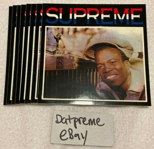 SUPREME Barrington Levy /& Jah Life Englishman Rolls Royce Sticker Box Logo SS16