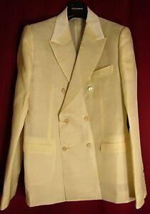 e7fdd80c4d2 Details about Authentic Dolce&Gabbana D&G designer gents cream silk blazer  UK40/EU50 rrp €2450