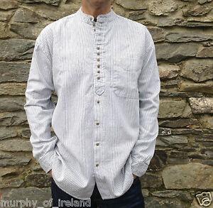 vista previa de nuevo alto como encontrar Detalles de Hombre/Hombre Abuelo/Abuelo sin cuello Camisas Algodón  Irlandés/Irlanda Clásico