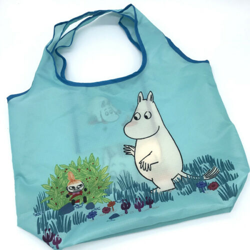 Bleu Moomin Valley Fourre Shopping Sac Main À Personnages tout Pliant zg1z7