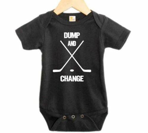 Baby Shower Gift DUMP AND CHANGE Hockey Hockey ROMPER Baby BODYSUIT