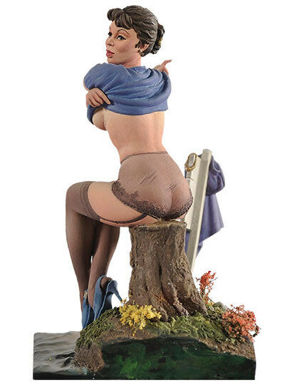 Andrea Miniatures No Swimming Pin up 29 80mm Model Unpainted kit