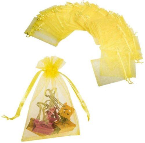 50 Cadeau Sachets avec Rubans Bijoux Sac De Mariage Parti Pochettes,12x9cm