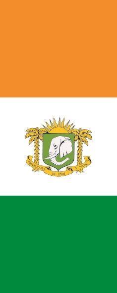 Fahne Fahne Fahne Flagge Elfenbeinküste mit Wappen im Hochformat verschiedene Größen 9fab19