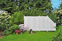 Lamellenzaun Barcelona Weiss Kunststoff Sichtschutzzaun Gartenzaun Windschutz
