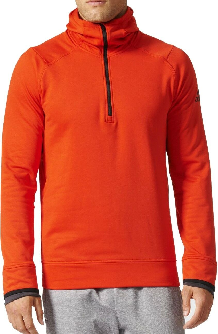 adidas ClimaHeat Half Zip Mens Training Hoody - πορτοκαλί