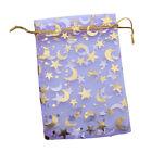 50x Purple Moon Stars Organza Wedding Pouch Bags 120168