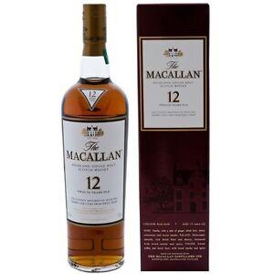 MACALLAN 12yo Sherry Oak Single Malt Scotch Whisky 750ml