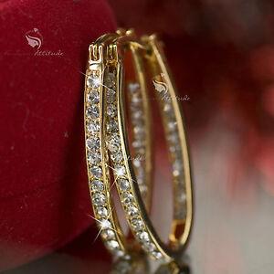 18k-yellow-gold-gp-made-with-SWAROVSKI-crystal-hoop-stud-earrings-oval-hoops