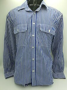 RM-WILLIAMS-Mens-Stockyard-Long-Sleeve-Relaxed-Fit-Striped-Shirt-Size-S