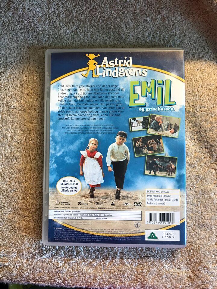 Emil og Grisebassen , instruktør Astrid Lindgrens , DVD