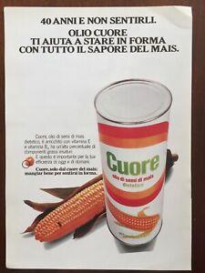 Ritaglio-Giornale-Pubblicita-Advertising-Anni-80-Cuore-Olio-di-Semi-di-Mais