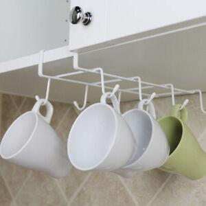 6-8-Hooks-Cup-Holder-Firm-Hang-Kitchen-Under-Shelf-Storage-Rack-Organiser-Hook