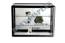 Glass Countertop Display Case Store Fixture Showcase With Front Lock Sc Kdtop Bk