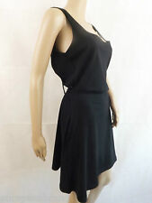 Black Bow Back ASOS Dress womens Party Casual Sleeveles 100% cotton sundress bow