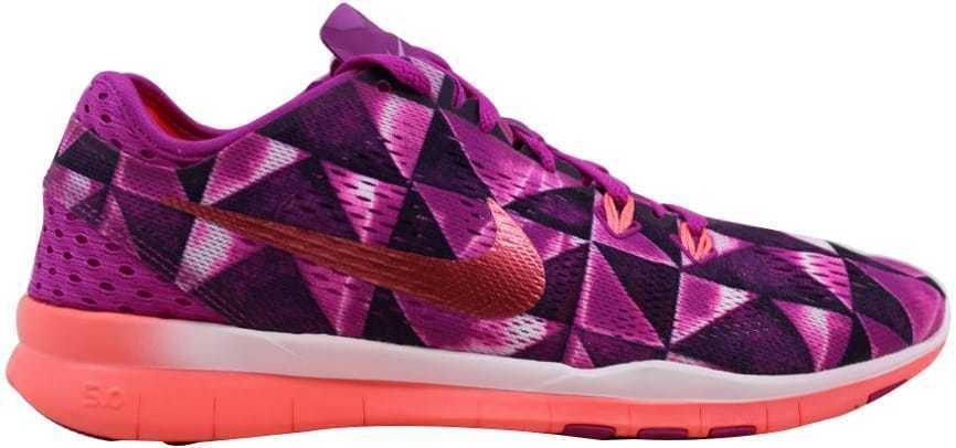 Nike Free 5.0 TR FIT 5 PRT Fuchsia Flash/Hot Lava-Glow- blanc 704695-501 SZ 6.5