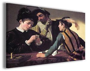 Quadro moderno Caravaggio vol I stampa su tela canvas pittori famosi