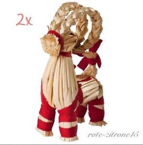 Ikea Weihnachten 2x Rentier Bock Ziegenbock Steinbock Dekoration
