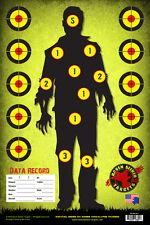 12X18 ZOMBIE RANGE 9mm TRAINING PAPER TARGETS: SURVIVAL SERIES 101: 30 PACK