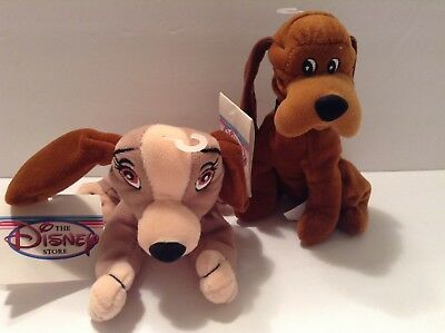 Disney Store Plush Bean Bag Toy Lady And The Tramp Dogs Lady And Trusty 8 Ebay